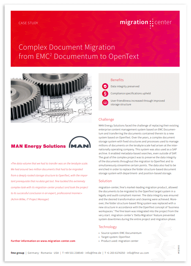 Thumbnail | Case study | MAN Energy Solutions | Complex document migration from EMC² Documentum to OpenText