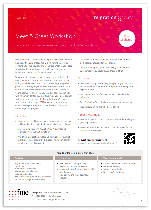 Thumbnail | Datasheet | Meet & Greet Workshop