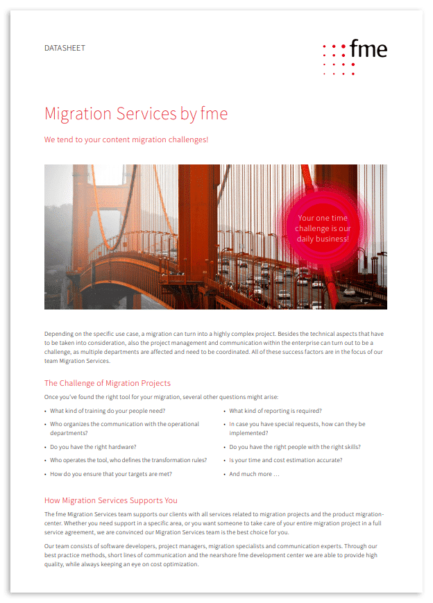 Thumbnail | Datasheet | Migration Services by fme