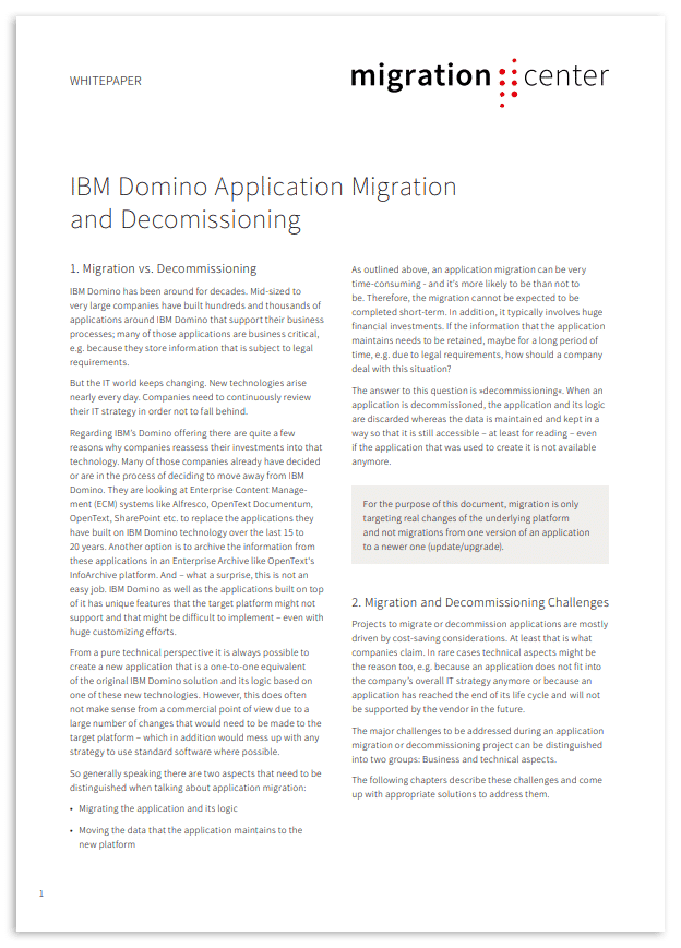 Thumbnail | Whitepaper | IBM Domino application migration and decommissioning