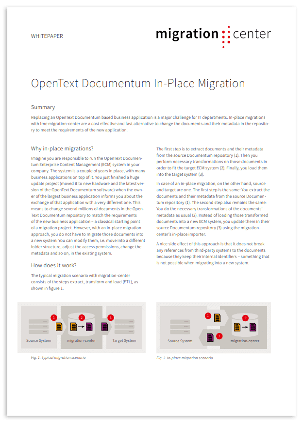 Thumbnail | Whitepaper | OpenText Documentum in-place migration