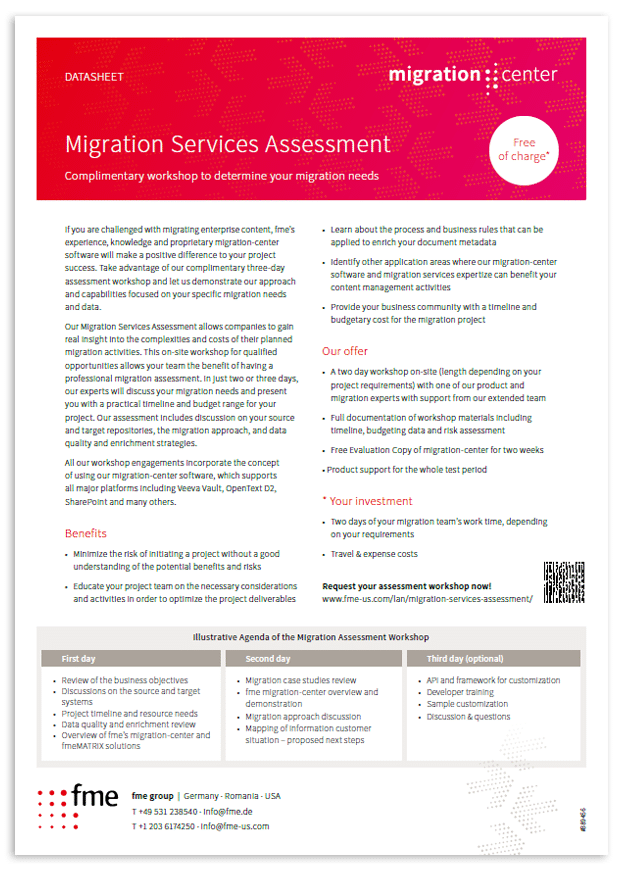 Thumbnail | Datasheet | Migration Services assessment